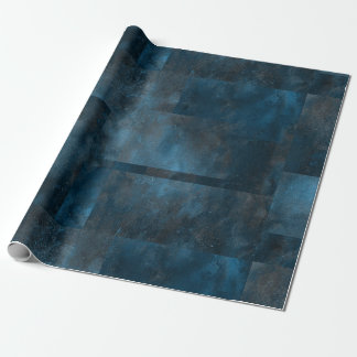 blue art grunge wrapping paper