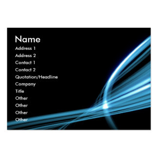 Blue Art Lines Pack Of Chubby Business Cards