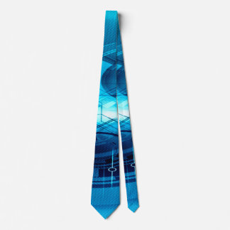 Blue Artificial Intelligence Abstract Tie