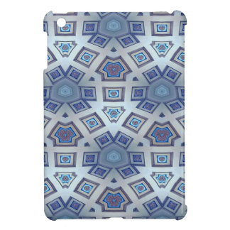 Blue Artistic Geometric Gear Like Pattern Cover For The iPad Mini