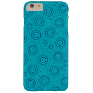 Blue artsy design barely there iPhone 6 plus case
