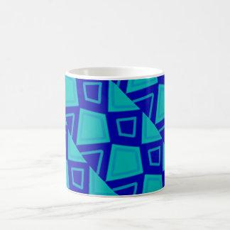 Blue artsy design coffee mug