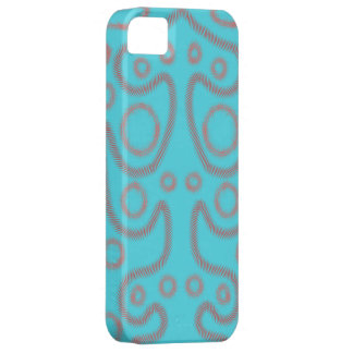 Blue artsy phonecase case for the iPhone 5
