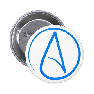 Blue Atheist A 6 Cm Round Badge