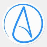 Blue Atheist A Stickers