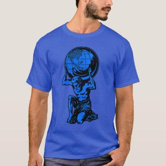 Blue Atlas Mythology Weightlifting T-Shirt