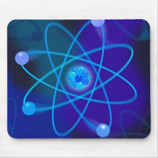 Blue Atomic Structure Mouse Pad