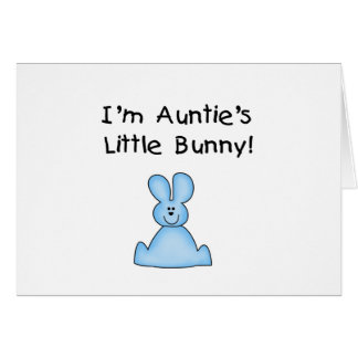 Blue Auntie's Little Bunny Tshirts and Gifts Greeting Card