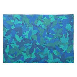 Blue autumn placemat