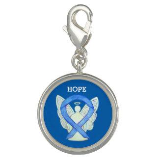 Blue Awareness Ribbon Angel Custom Charm Bracelet
