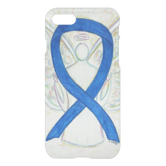 Blue Awareness Ribbon Angel iPhone 7 Case