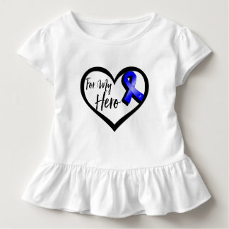 Blue Awareness Ribbon For My Hero T Shirts