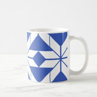 Blue Aztec Geometric Design Mug
