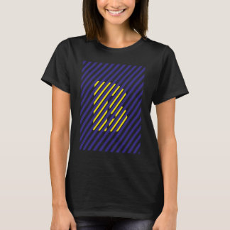 Blue B of and yellow T-Shirt
