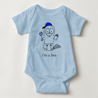 Blue Baby Beaver  for a Boy Baby Bodysuit