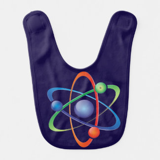 blue baby bib  science atom
