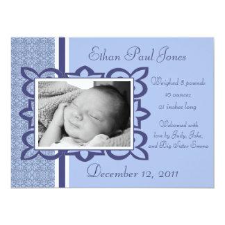 Blue Baby Boy Birth Announcement
