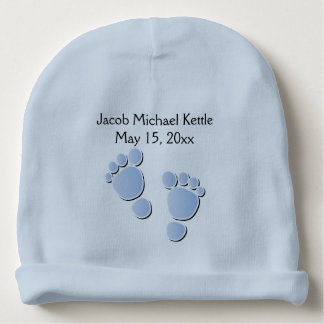 Blue Baby Boy Feet | DIY Name Baby Beanie