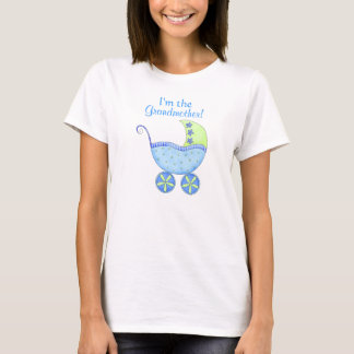 """Blue Baby Buggy """"I'm the Grandmother"""" T-Shirt"""