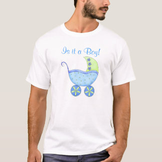 Blue Baby Buggy It's A Boy Dad's T-Shirt