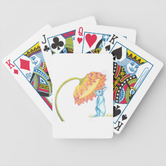 blue baby bunny bicycle playing cards