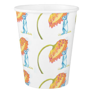 blue baby bunny paper cup
