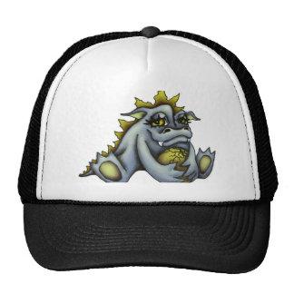 Blue baby dragon mesh hat