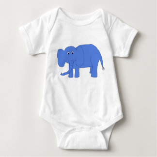 Blue baby elephant apparel baby bodysuit