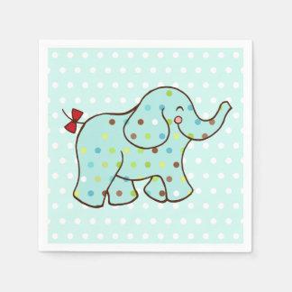 Blue Baby Elephant Party Napkins Paper Napkin