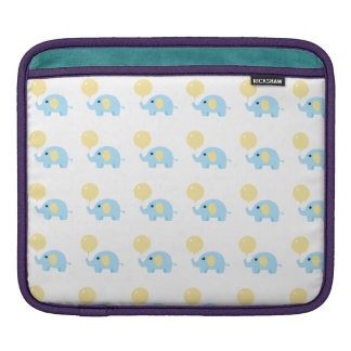 blue baby elephant with balloon iPad sleeve