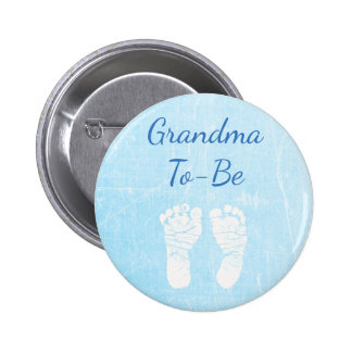 Blue Baby  Grandma to be Baby Shower Button