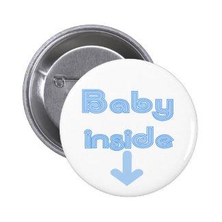 Blue Baby Inside - Customised 6 Cm Round Badge