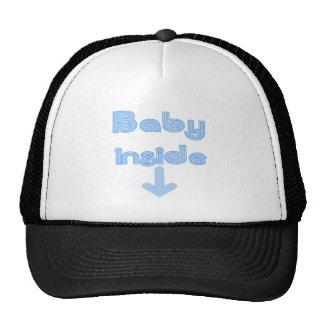 Blue Baby Inside Hat
