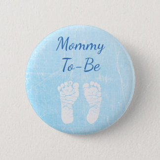 Blue Baby Mommy to be Baby Shower Button