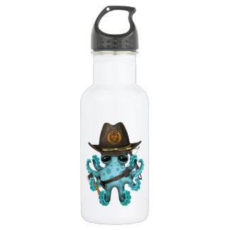 Blue Baby Octopus Zombie Hunter 532 Ml Water Bottle