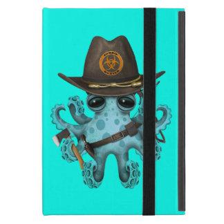 Blue Baby Octopus Zombie Hunter Case For iPad Mini