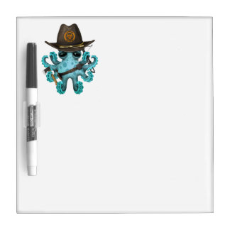 Blue Baby Octopus Zombie Hunter Dry Erase Boards
