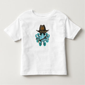 Blue Baby Octopus Zombie Hunter Toddler T-Shirt