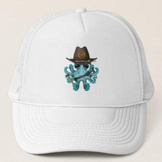 Blue Baby Octopus Zombie Hunter Trucker Hat