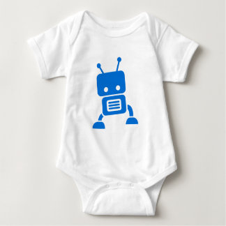 Blue Baby Robot Baby Clothes Shirt