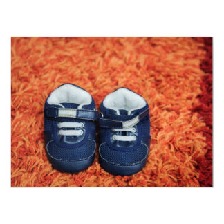 Blue baby shoes announcements