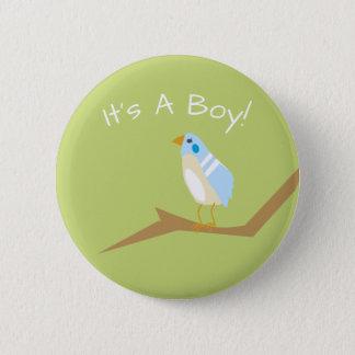 Blue Baby Shower Chic Nature Blue Bird Favor Pin