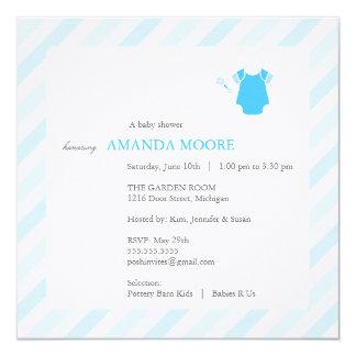 Blue Baby Shower Invitation