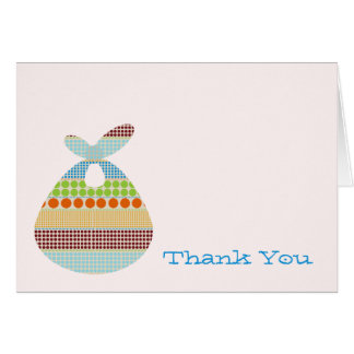 Blue Baby Shower Thank You Boho Bundle Card