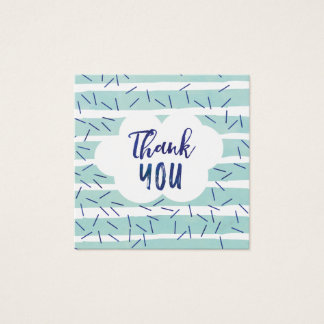 Blue Baby Sprinkle Thank You Tags for a Boy