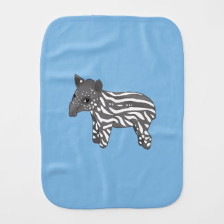 blue baby tapir baby burp cloths