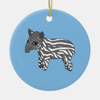 blue baby tapir ceramic ornament