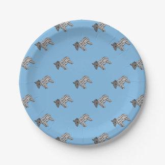 blue baby tapir paper plate