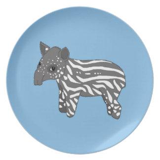 blue baby tapir plate