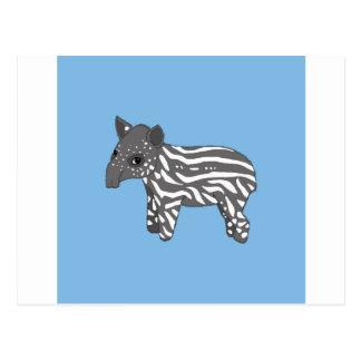 blue baby tapir postcard